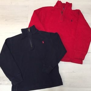 Boys Polo Ralph Lauren Zip Neck Sweaters
